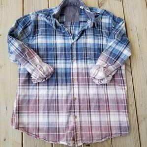 Vintage Style Grunge Flannel